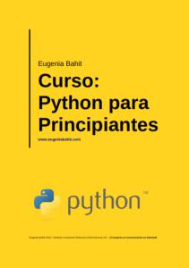 Libro aprendiendo python de Eugenia Bahit
